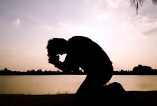 man-praying-morning-kneel-silhouette-36934889